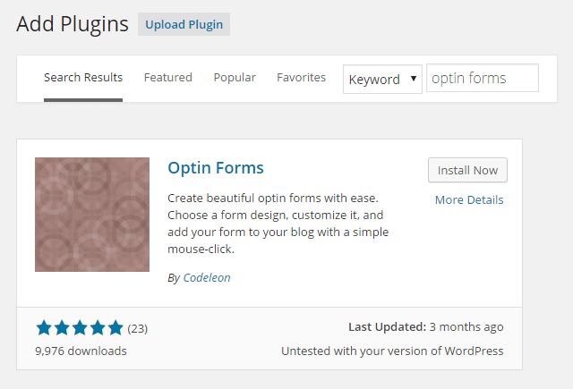 Optin Forms Install