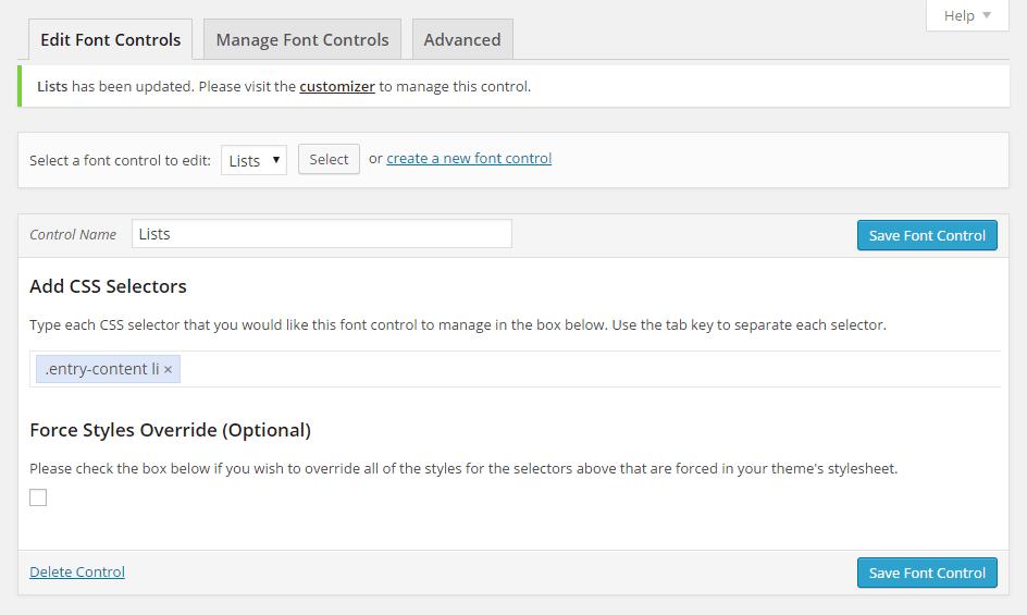 Easy Google Fonts Custom Control 02