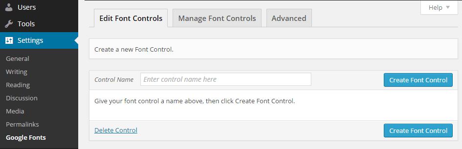Easy Google Fonts Custom Control