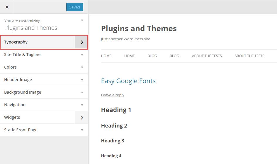 Easy Google Fonts Typography