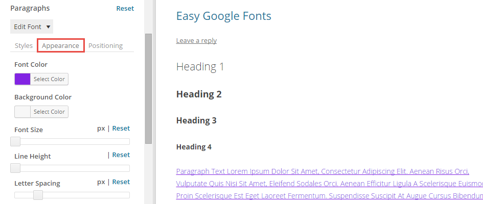 Easy Google Fonts Using the Customizer 03