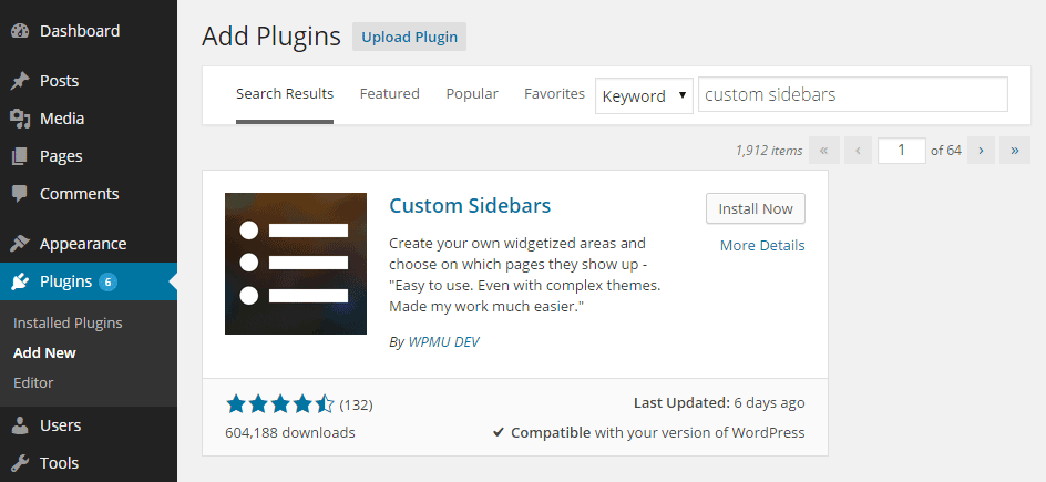 Custom Sidebars Create Multiple Sidebar Widget Areas