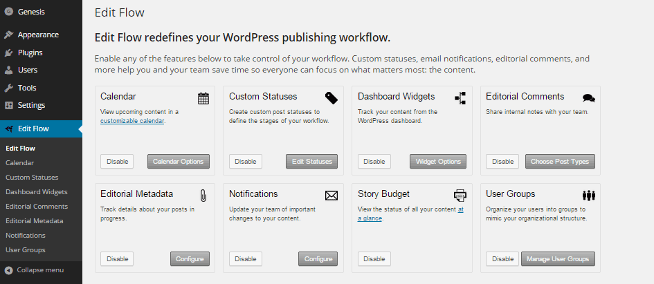 Edit Flow Modules