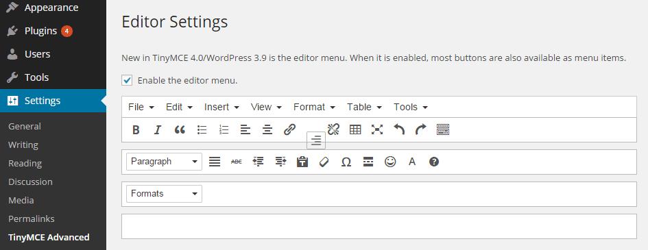 Rearrange Editor Icons