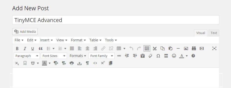 Upgrade the WordPress Post Editor with TinyMCE Advanced