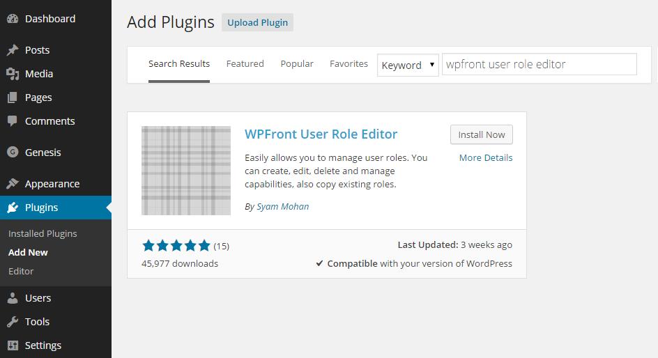 Add User Roles Plugin