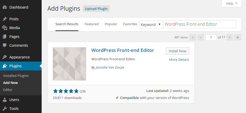 Front-end Editing Add Plugin
