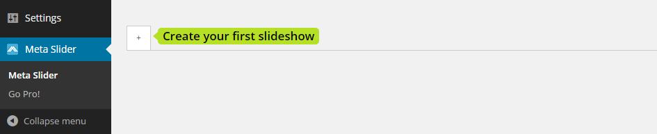 Meta Slider Create Slideshow