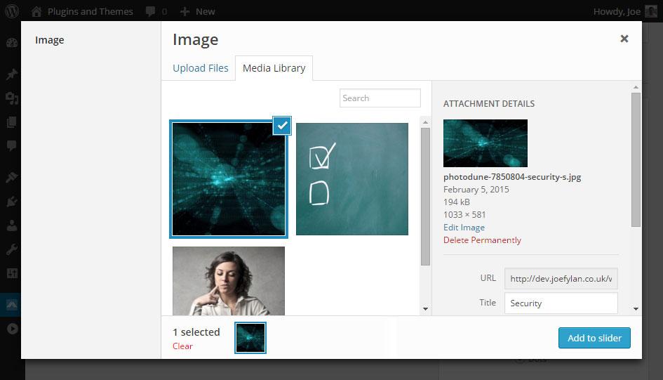 Meta Slider Media Library