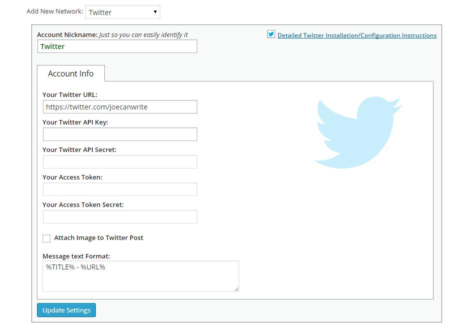 NextScripts Add Twitter