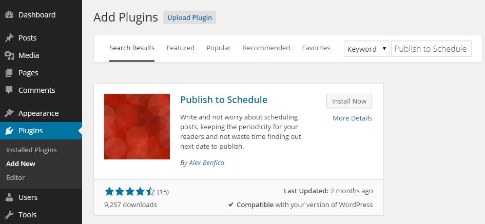 Publish to Schedule Add Plugin
