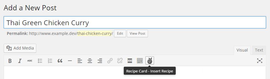 Recipe Card Button