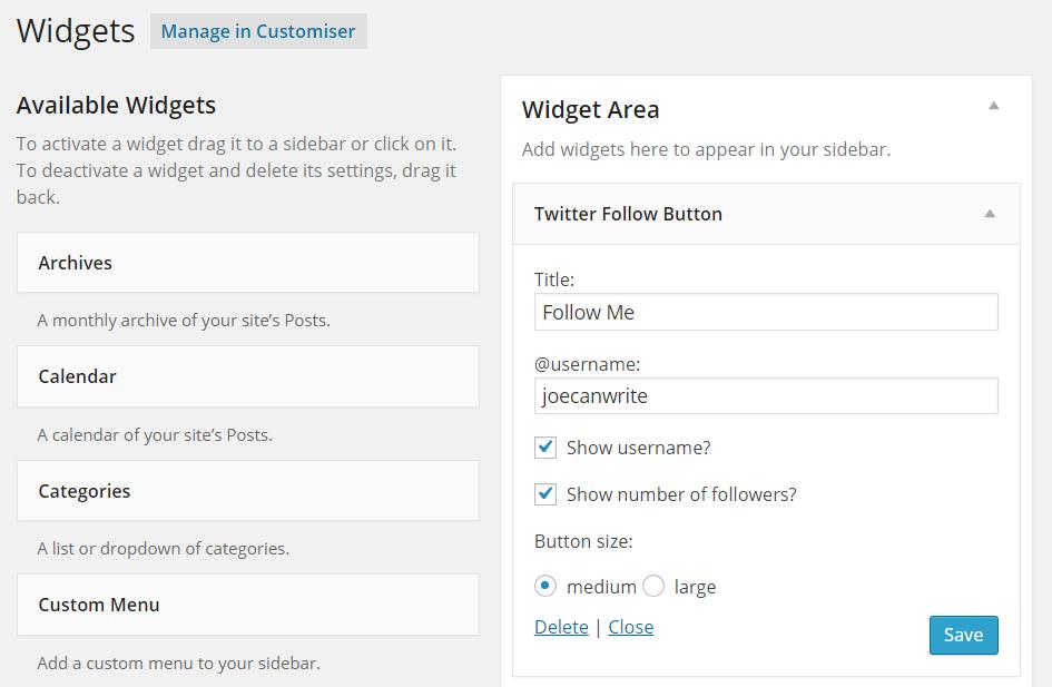 Twitter Official Widget