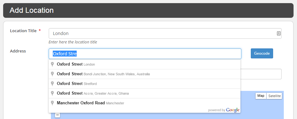 WP Google Map Plugin Add Location