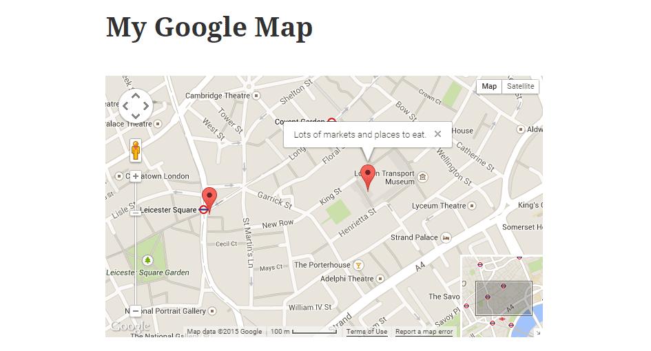 WP Google Map Plugin The Map