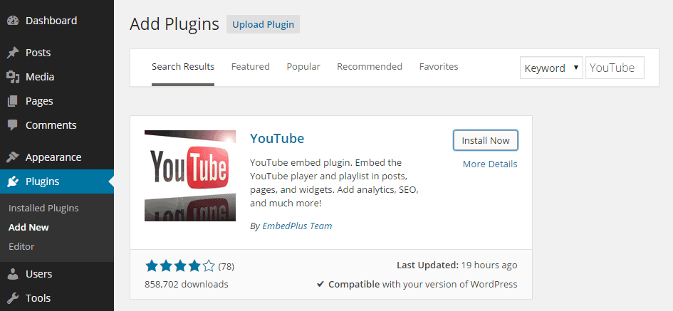 YouTube Embed Plus
