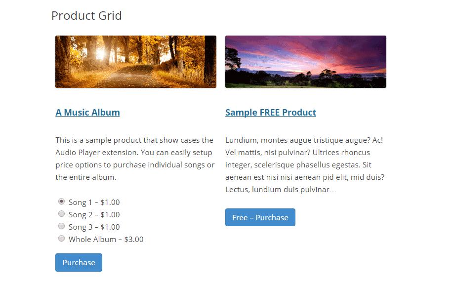 Easy Digital Downloads Product Grid