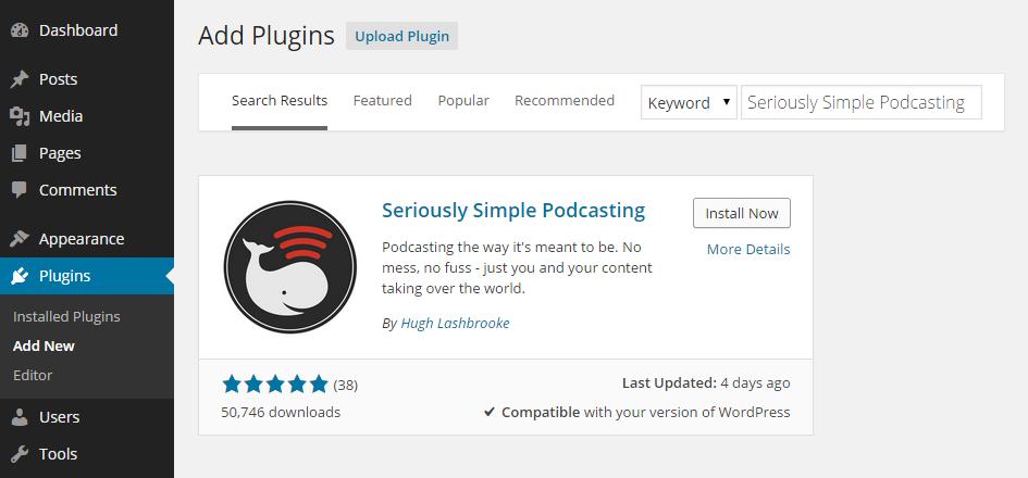 Podcast Add New Plugin
