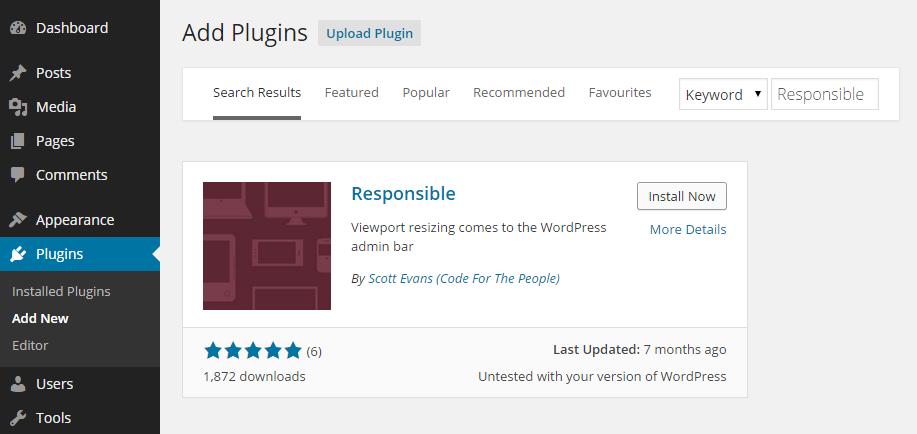 Responsible Add Plugin
