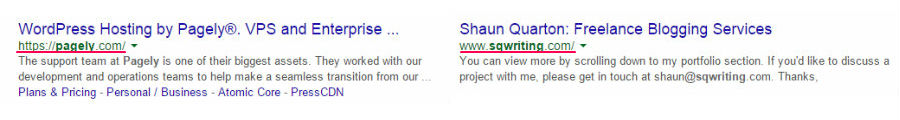 www or non-www SERPs