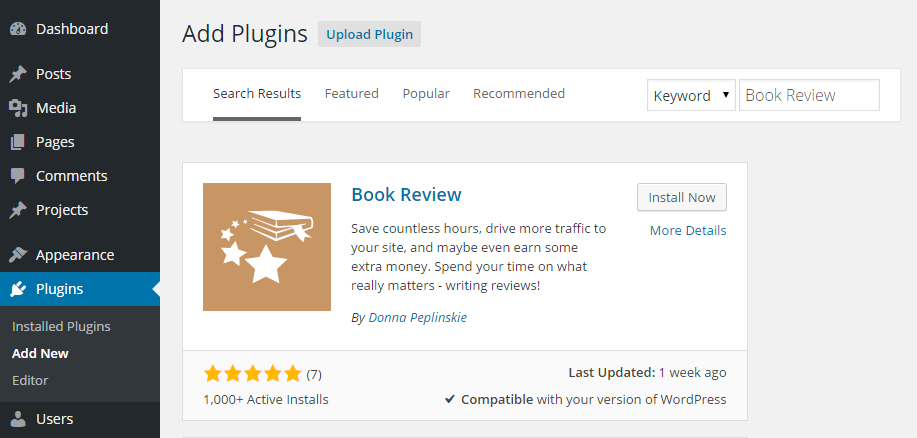 Book Review Add Plugin