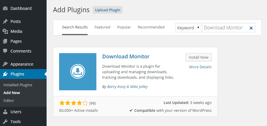 Download Manager Add Plugin
