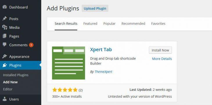 Install Xpert Tab