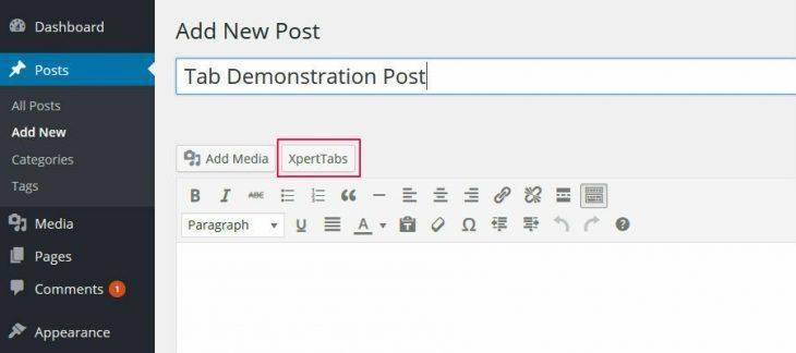 Xpert Tab post editor