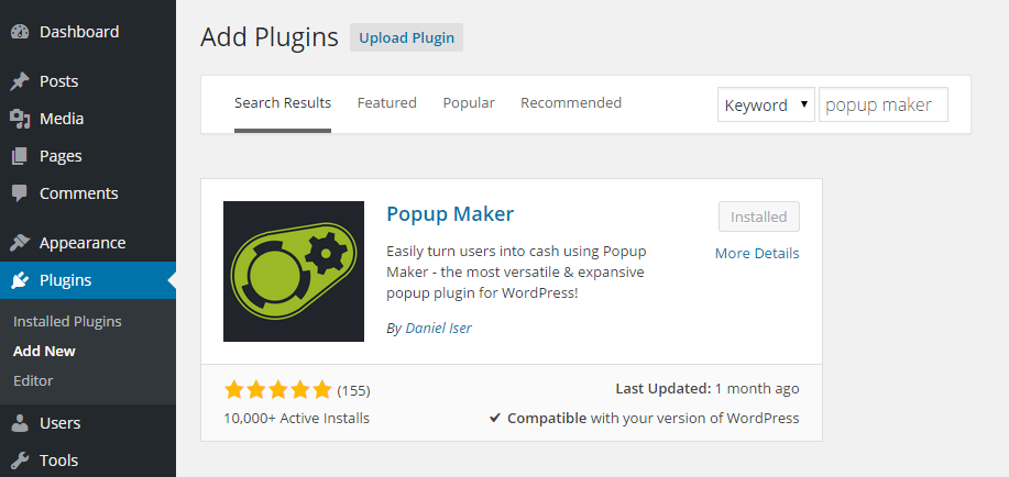 Popup Maker Add Plugin