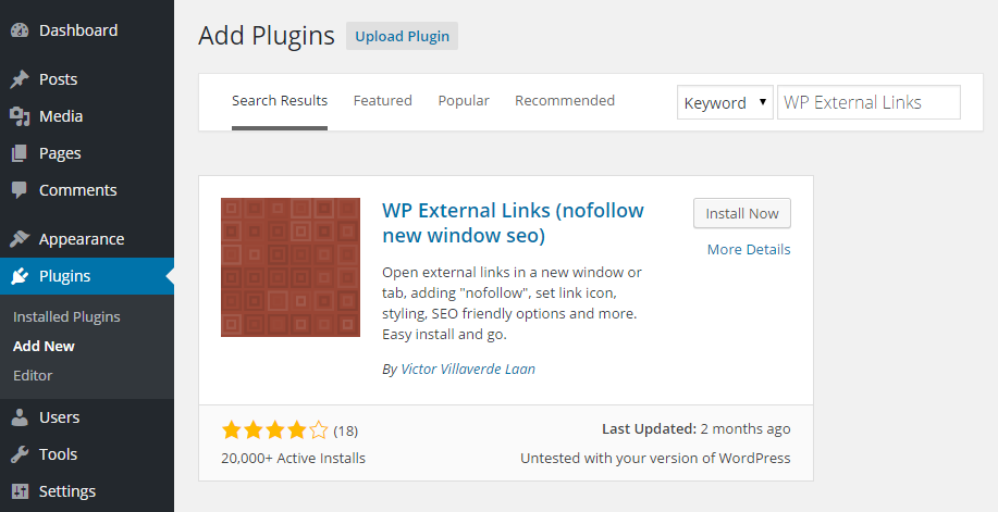 WP External Add Plugin