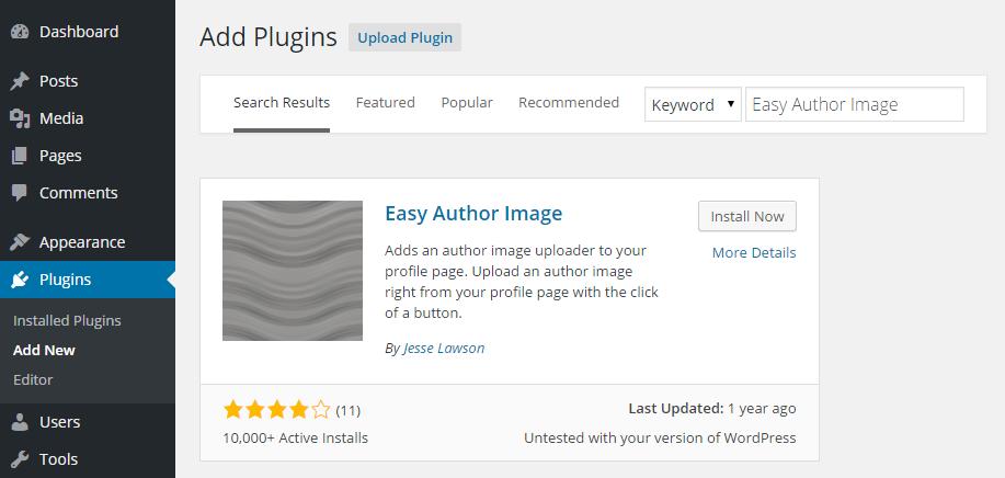 Easy Author Image Add Plugin