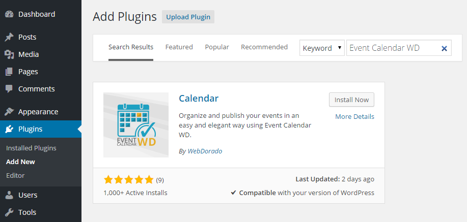 Event Calendar WD Add Plugin