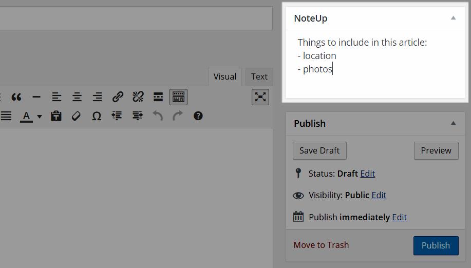 NoteUp Meta Box