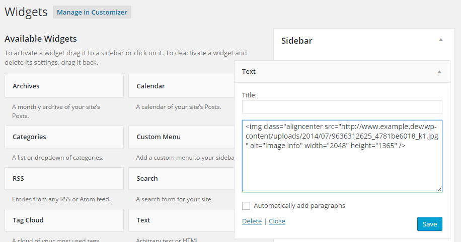 Display Images In The Sidebar Of Your WordPress Website