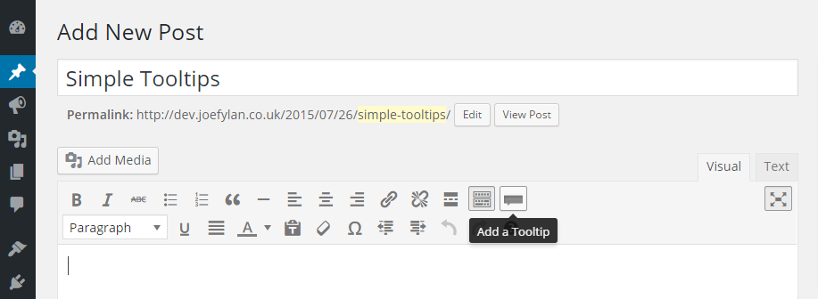 Simple Tooltips Button