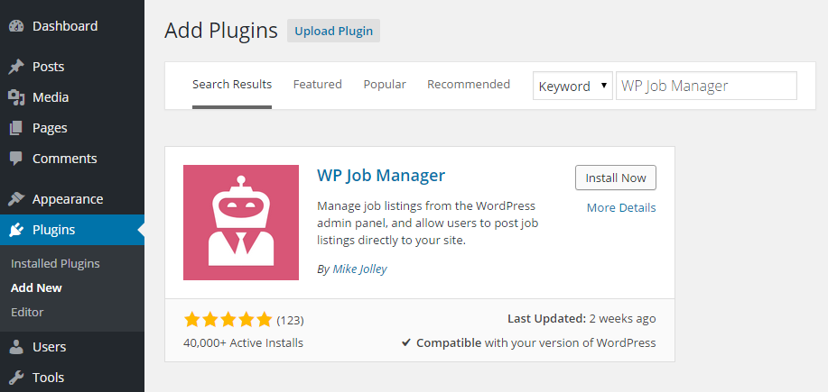 WP Job Manager Add Plugin