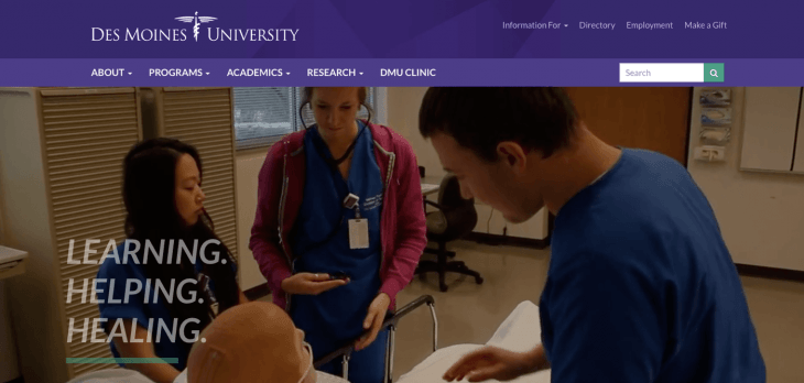 Top University Websites: Des Moines University