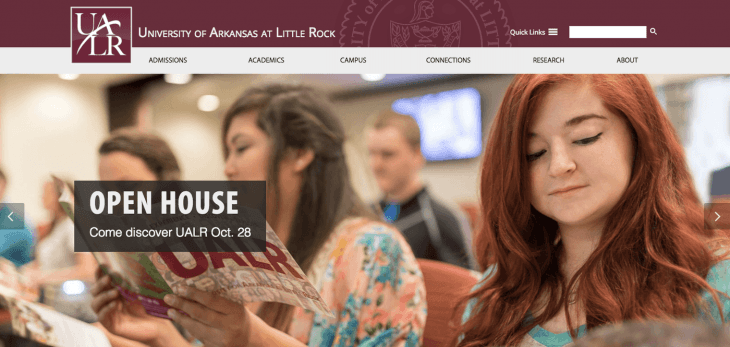 Top University Websites Using WordPress: University of Arkansas
