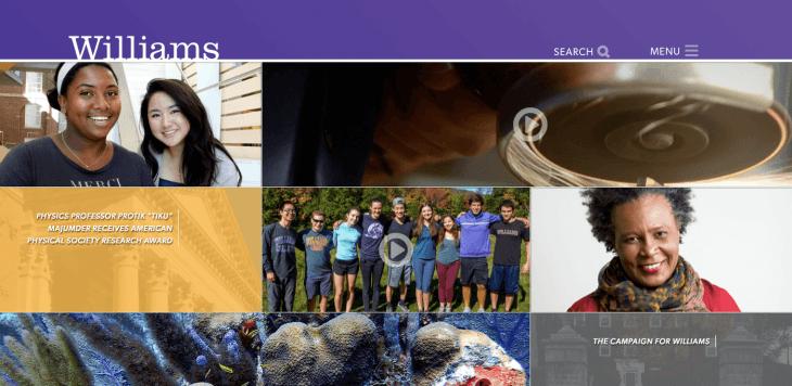 Top University Websites Using WordPress: Williams