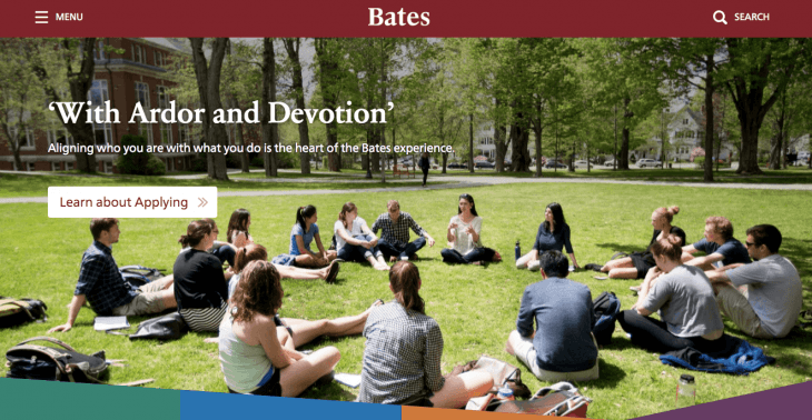 Top University Websites Using WordPress: Bates