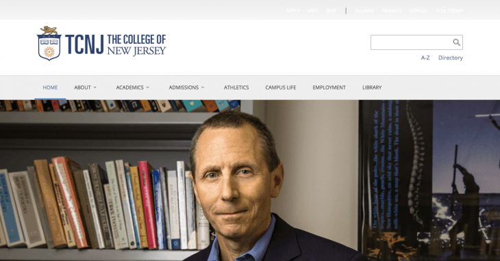 Top University Websites Using WordPress: The College of New Jersey