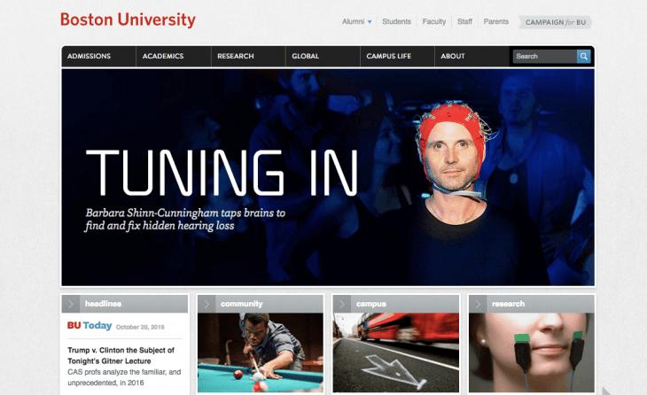 Top University Websites Using WordPress: Boston University
