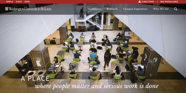 Top University Websites Using WordPress: Washington University