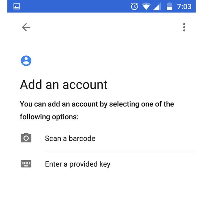 Adding an account to Android App