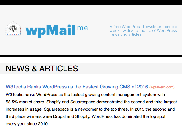 wordpress email newsletter