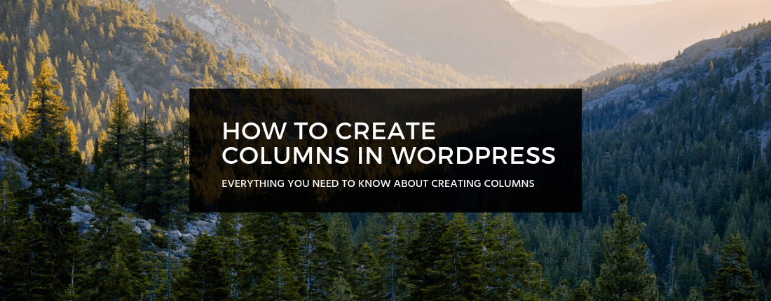 How to Create Columns in WordPress