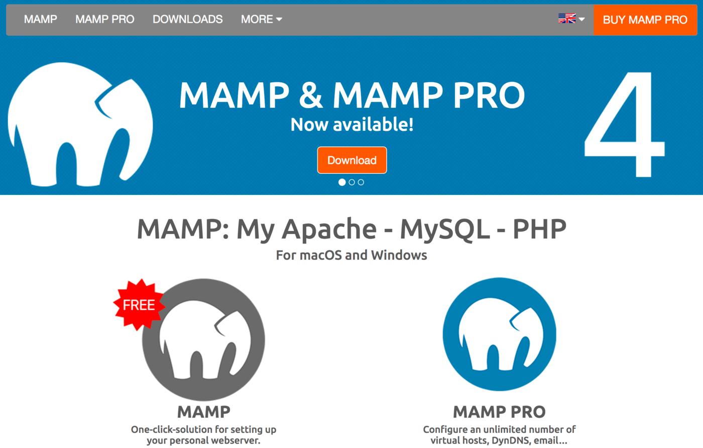 MAMP Local Server
