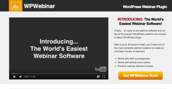 Paid WordPress Webinar