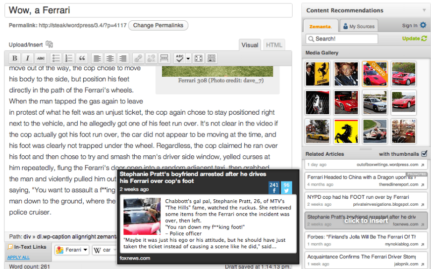 Content curation using wordpress plugins