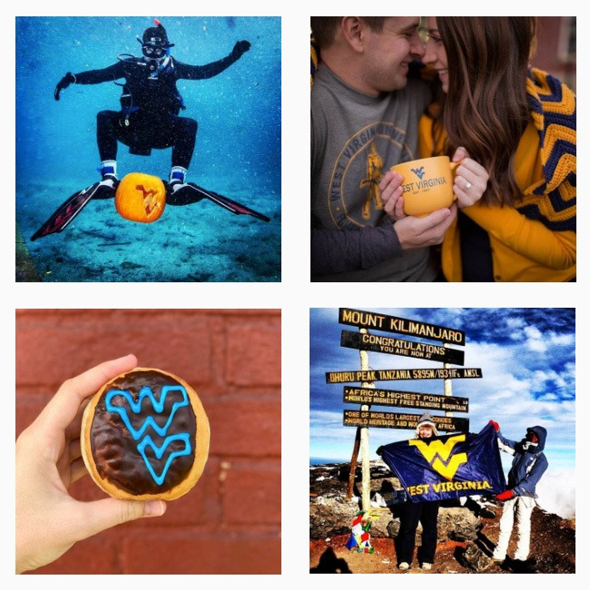 A few photos from West Virginia University's Instagram account.